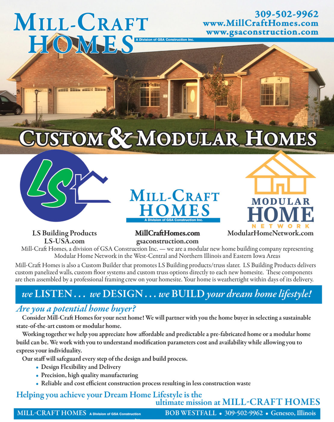 Mill-Craft Homes Brochure -